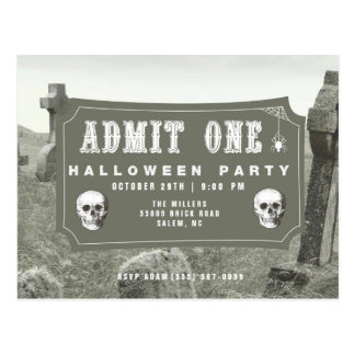 Convite do bilhete do partido do Dia das Bruxas do