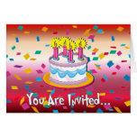 Convite do bolo de aniversário cartão