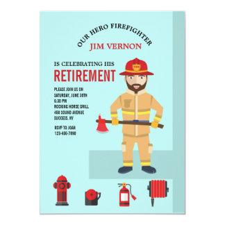 Convite do bombeiro e do equipamento