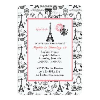 Convite do branco do partido de Paris