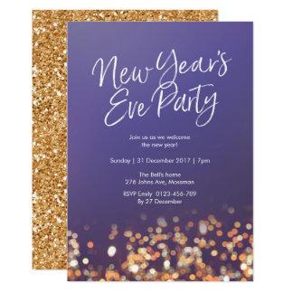 Convite do brilho do partido da véspera de ano