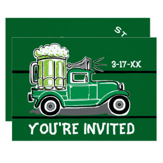Convite do caminhão da cerveja do verde do partido