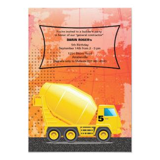 Convite do caminhão do cimento da construção
