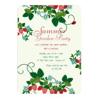 Convite do campo da morango