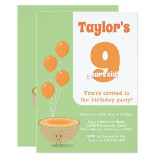 Convite do Cantaloupe | do aniversário