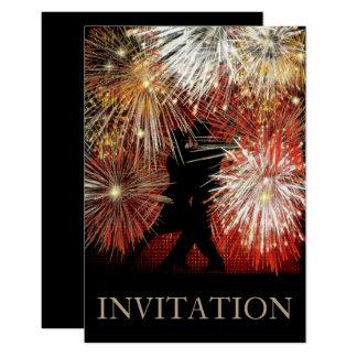 Convite do carnaval da bola do tango