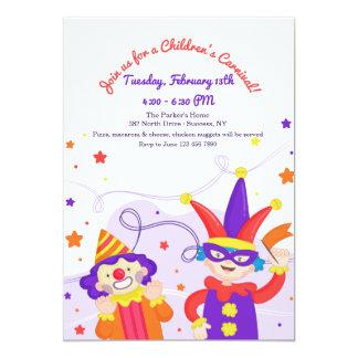 Convite do carnaval das crianças