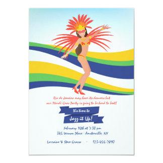 Convite do carnaval do dançarino do carnaval