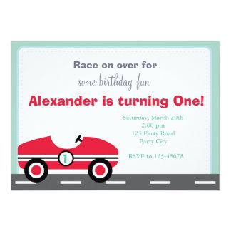 Convite do carro de corridas (passeio no