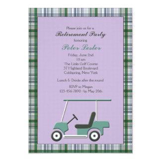 Convite do carro de golfe