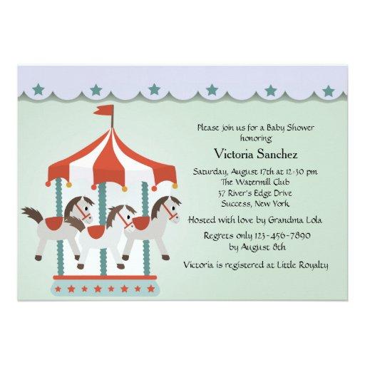 Convite do carrossel do bebê