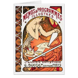 Convite do cartão: Alphonse Mucha - menus