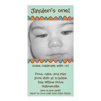 Convite do cartão com fotos cartão com foto