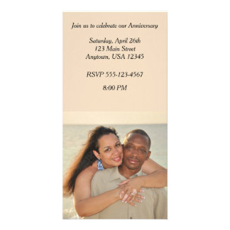 Convite do cartão com fotos do aniversário