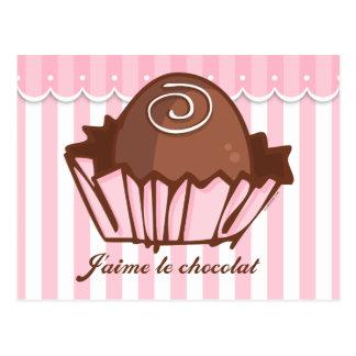 Convite do cartão de J'aime Chocolat Cartoes Postais