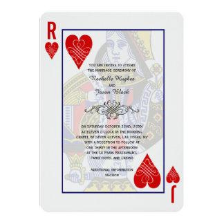 Convite do cartão de jogo do rei Rainha