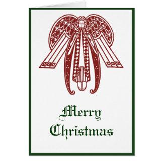 Convite do cartão do feriado do Natal do anjo do