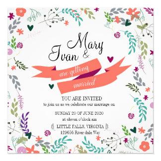 Convite do casamento