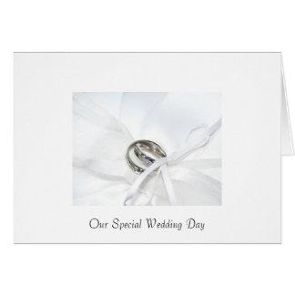 Convite do casamento cartão comemorativo