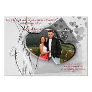 Convite do casamento - casal do quadro da foto do