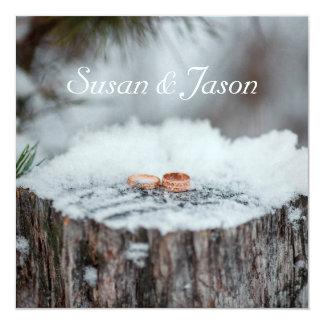 Convite do casamento--Casamento no inverno