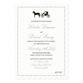 Convite do casamento com cavalo & carruagem