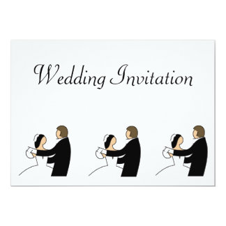 Convite do casamento com dança dos noivos