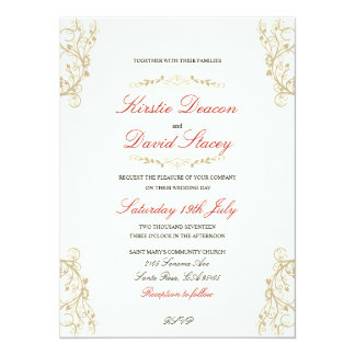 Convite do casamento com decorações ornamentado