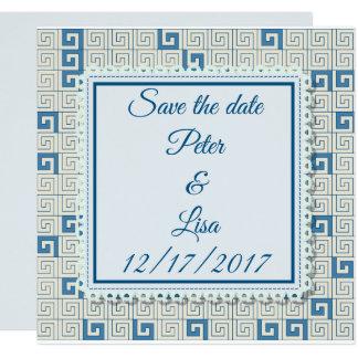 Convite do casamento com teste padrão grego