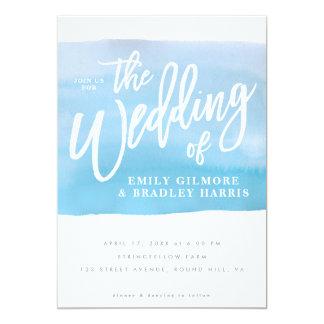 Cartão Convite do casamento da aguarela