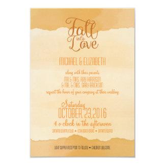 Convite do casamento da aguarela do outono da