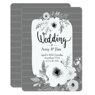 Convite do casamento da aguarela do vintage