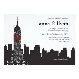 Convite do casamento da arquitectura da cidade da
