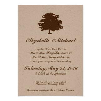 Convite do casamento da árvore de Rusic