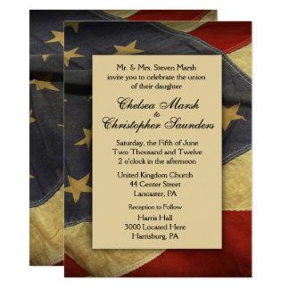 Convite do casamento da bandeira dos EUA do