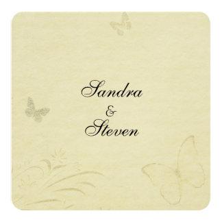 Convite do casamento da borboleta do vintage