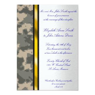 Convite do casamento da camuflagem de Digitas do