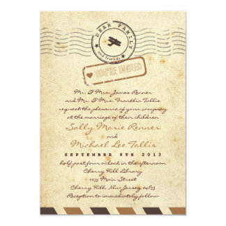 Convite do casamento da carta de amor do correio