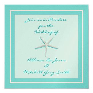 Convite do casamento da estrela do mar