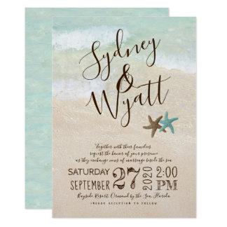 Convite do casamento da estrela do mar da