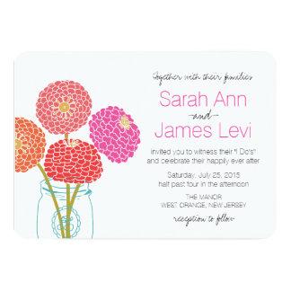 Convite do casamento da flor convite 12.7 x 17.78cm