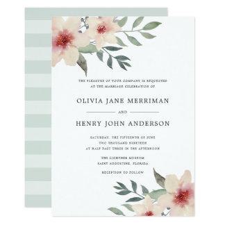 Convite do casamento da flor do pêssego