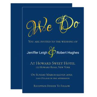 Convite do casamento da folha de ouro do falso da
