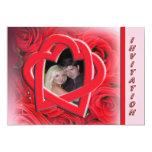 Convite do casamento da foto - rosas vermelhas e