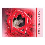 Convite do casamento da foto - rosas vermelhas e c