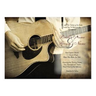 Convite do casamento da guitarra convite 12.7 x 17.78cm