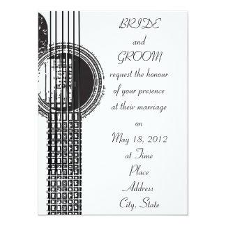Convite do casamento da guitarra acústica