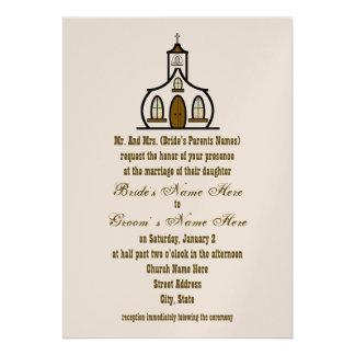Convite do casamento da igreja