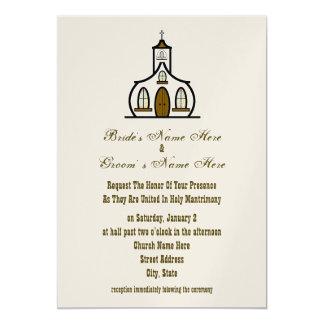 Convite do casamento da igreja - da noiva & do