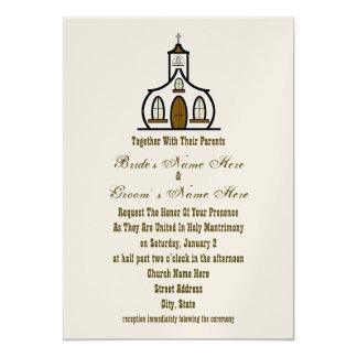Convite do casamento da igreja - junto com pais
